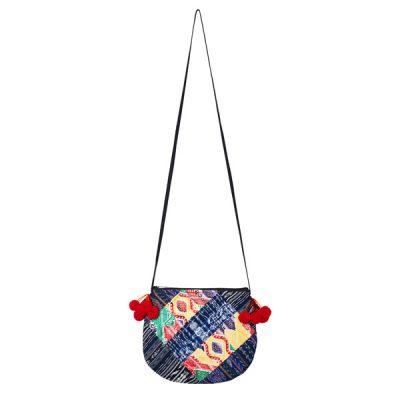 POMPOM CROSSBODY BAG | Red Tassels | marysal-shop.com