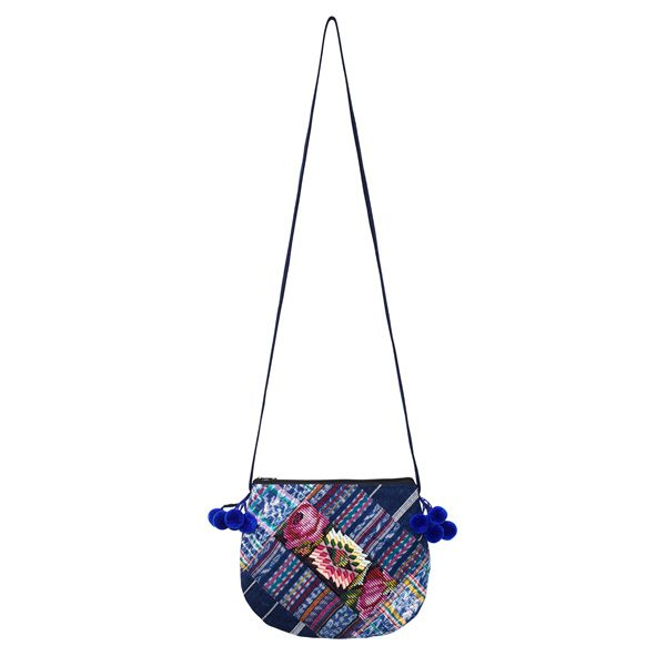 POMPOM CROSSBODY BAG | Rose | marysal-shop.com