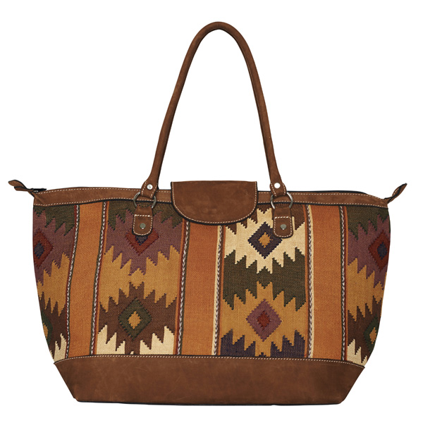 ETHNO SHOPPER LARGE | CAMEL DIAMONDS