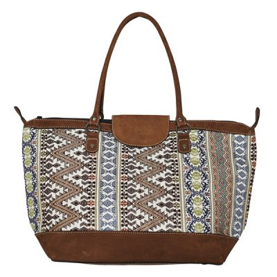ETHNO SHOPPER LARGE | WHITE PAISLEY