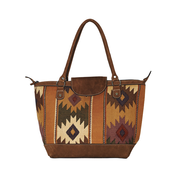 ETHNO SHOPPER SMALL | CAMEL DIAMONDS