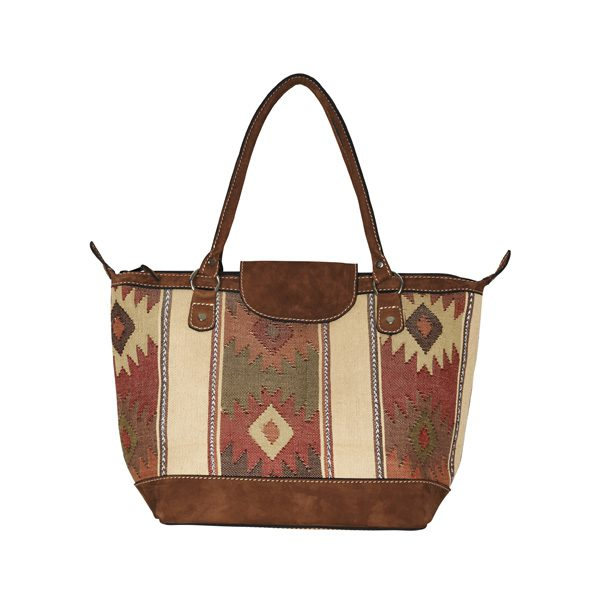 ETHNO SHOPPER SMALL | BEIGE DIAMONDS