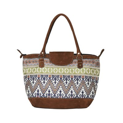 ETHNO SHOPPER SMALL | WHITE PAISLEY