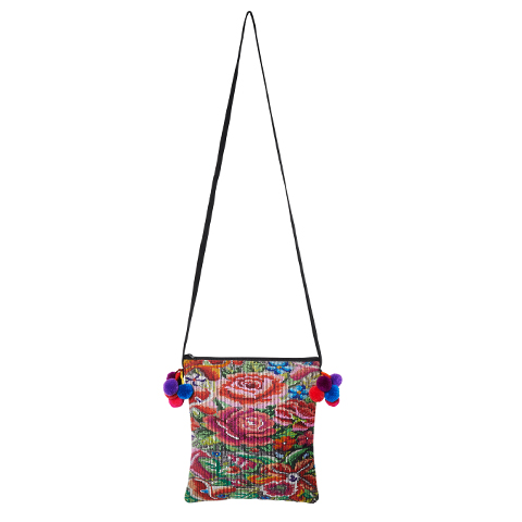 POMPOM CROSSBODY BAG | Floral design | marysal-shop.com