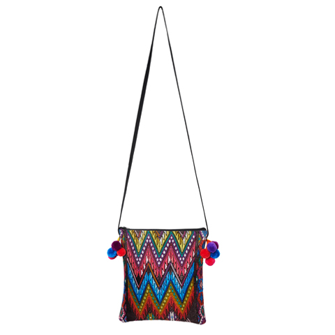 POMPOM CROSSBODY BAG | Aztec | MARYSAL