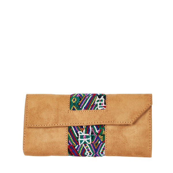Ethno Wallet | Vegan Leather | Green Aztec Design | MARYSAL