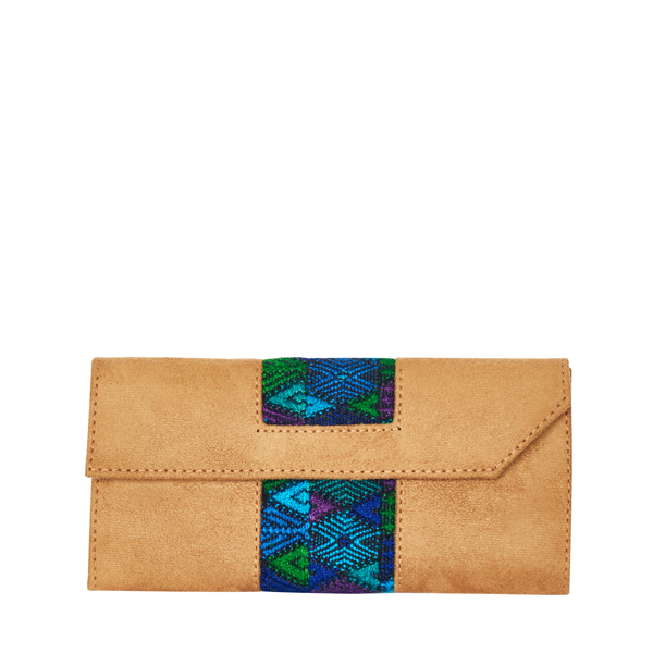 Ethno Wallet | Vegan Leather | Blue Diamond Design | MARYSAL