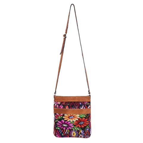 Ethno Crossbody Bag | Flower Huipil | MARYSAL Online Shop