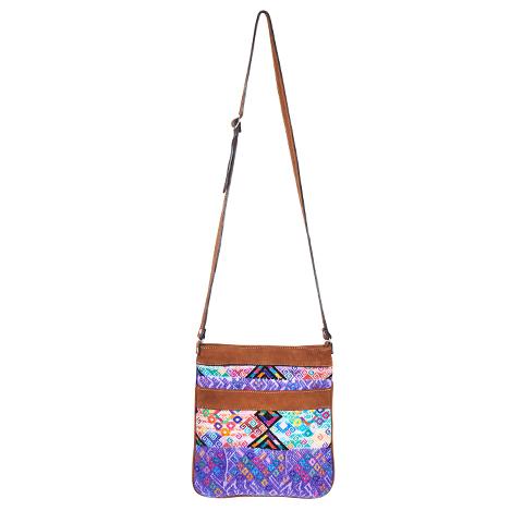 Ethno Crossbody Bag | Purple Huipil | MARYSAL Online Shop