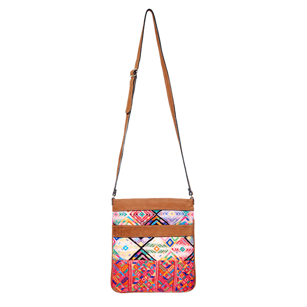 Ethno Crossbody Bag | Pink Huipil | MARYSAL Online Shop