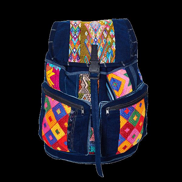 Ethno Style Backpack | Blue Aztec | MARYSAL