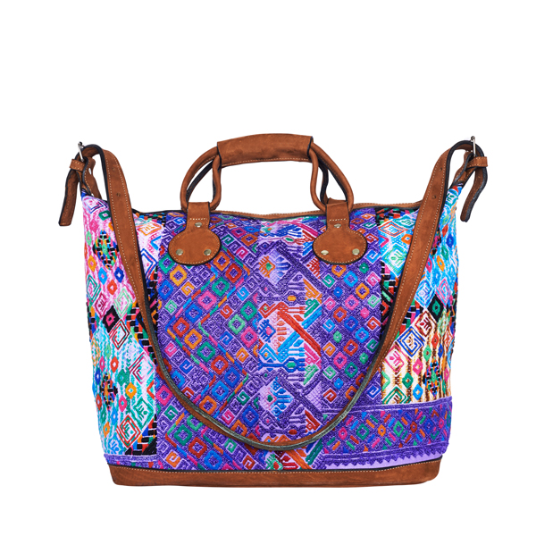 Weekender | Boho Shopper | Boho Bag | Huipil | purple ikat | MARYSAL