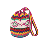 CROCHET BUCKET BAG | CROCHET BAG | pink | Ikat Pattern | Ethno