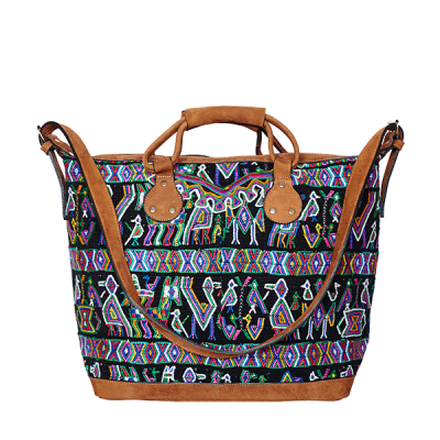 Shopper | Boho Shopper | Boho Bag | Huipil | black bird |