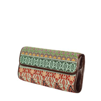 Clutch Clutchbag Bag Purse Handtasche green brown grün braun