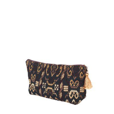 Necessaire Pompones Pompoms Bag Cosmetig Bag Schminktäschchen Minibag Allzwecktasche
