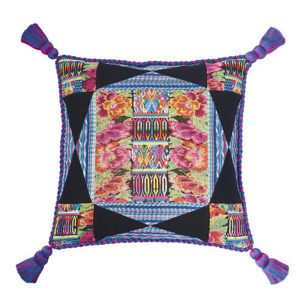Pillow Pompones Pompoms Home Interior Kissen Kisenbezu Kissenbezüge