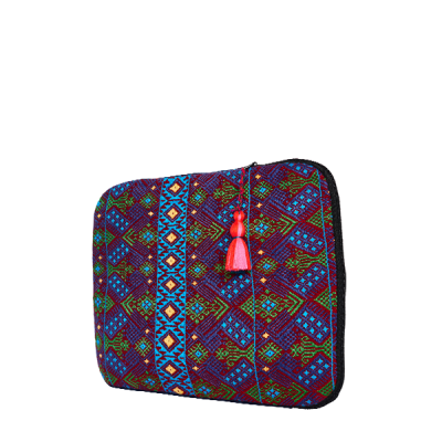 Boho Laptop Case | Blue Aztec | MARYSAL