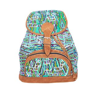 Marysal_Backpack Huipil_green