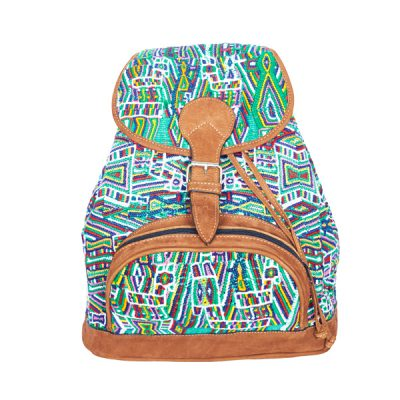 Gypsy Style Backpack | Green Geometric | MARYSAL