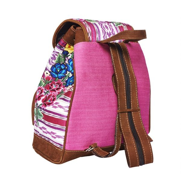 Marysal_Backpack Huipil_pink