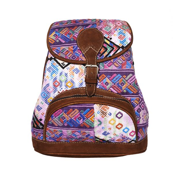 Marysal_Backpack Huipil_purple