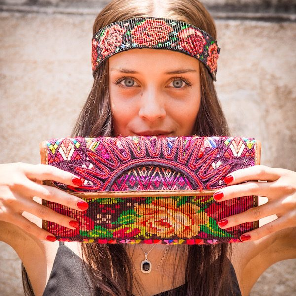 Boho Clutch Bag | Floral Pink | MARYSAL