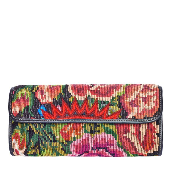 Boho Clutch Bag | Floral Red | MARYSAL