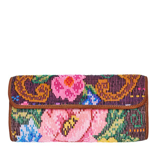 Boho Clutch Bag | Huipil Rose | MARYSAL