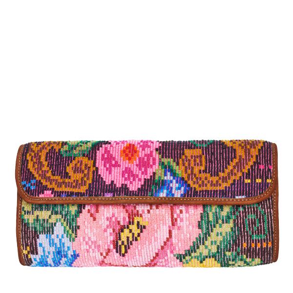 Boho Clutch Bag | Huipil Rose | MARYSAL