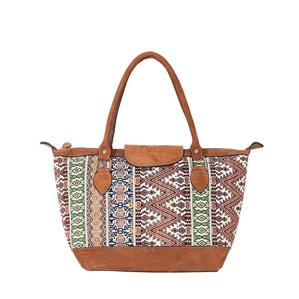 ETHNO SHOPPER SMALL | BEIGE PAISLEY