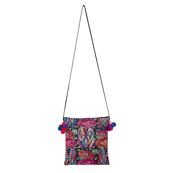POMPOM CROSSBODY BAG | Flower pattern | marysal-shop.com