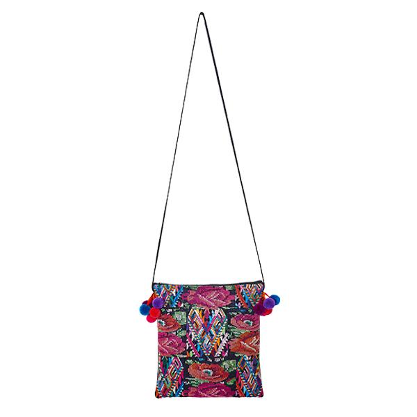 POMPOM CROSSBODY BAG | Flower pattern | marysal-shop.com