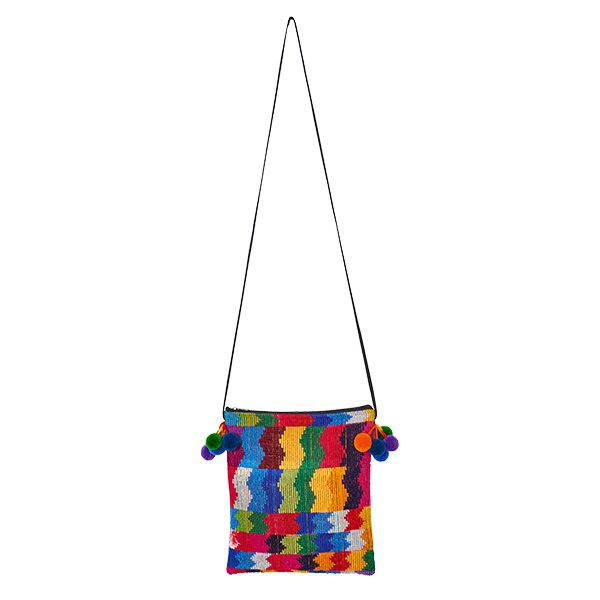 Crossbody bag pompoms