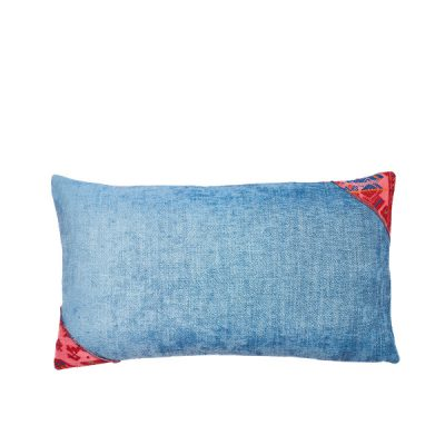 Marysal Couch Pillow_Blue Azur Petrol Chenille Vintage