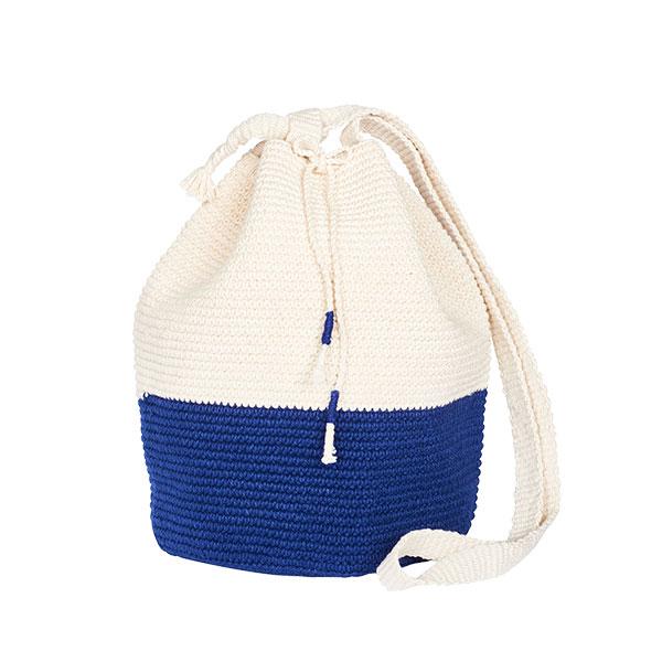CROCHET BUCKET BAG | COTTON BAG | Black and White | Color Block