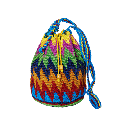 CROCHET BUCKET BAG | MOCHILA BAG | Zic Zac | Aztec Pattern