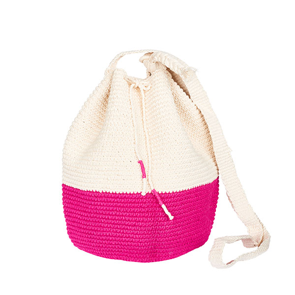 CROCHET BUCKET BAG | CROCHET BAG | MOCHILA | pink | colorblock
