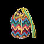 CROCHET BAG   MOCHILA BAG   Zic Zac   Yellow   Aztec Pattern