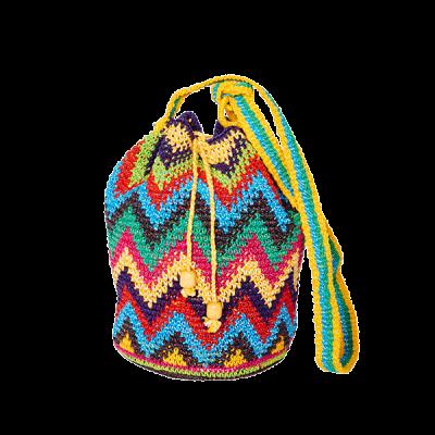 CROCHET BAG | MOCHILA BAG | Zic Zac | Yellow | Aztec Pattern