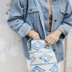 Baumwolltasche-Sommertasche-Strandtasche-Mochila-azurblau