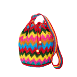 CROCHET-BAG | MOCHILA-BAG | Zic Zac | Multicolor | Aztec-Pattern
