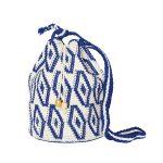 CROCHET BUCKET BAG | CROCHET BAG | Blue and White | Ikat pattern