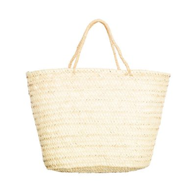 Raffia Shopper Straw Bag