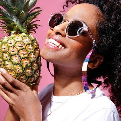 Sunglasses straps pink