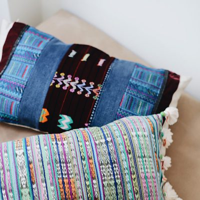 BOHO ETHNO POMPOM PILLOWS GUATEMALA